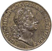 1723 Rosa Americana Twopence, Choice About Uncirculated