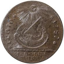 1787 FUGIO CENT Pointed Rays / UNITED STATES. Newman 13-X. GEM Uncirculated