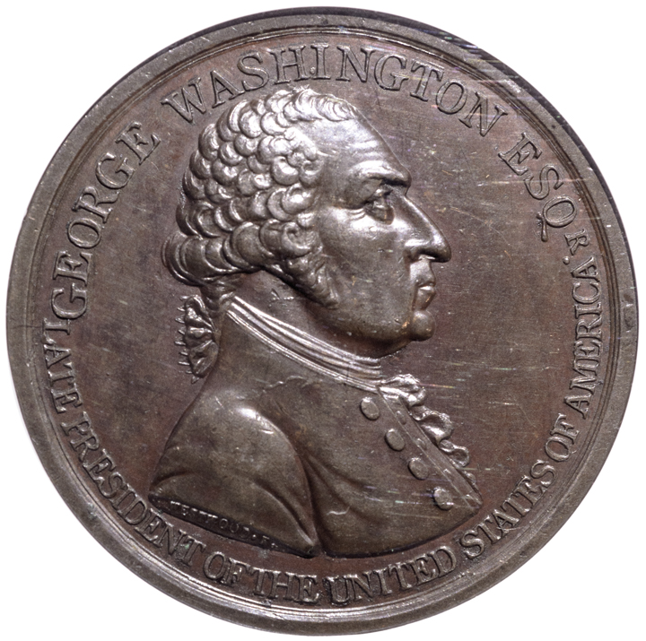 1799 George Washington Westwood Medal. First Rev. Bronze. Baker-80A NGC MS-63 BN