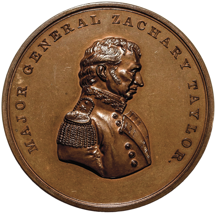 (1848) Original Major General Zachary Taylor. Monterey Medal. Julian MI-23. Gem