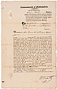 Major General WILLIAM HEATH Signed 1807 Dated Broadside Document