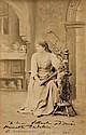 SARAH BERNHARDT, Huge Panel Signed Photograph Card The Divine Sarah.