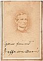 Confederate President JEFFERSON DAVIS Signed + Inscribed CDV Photograph