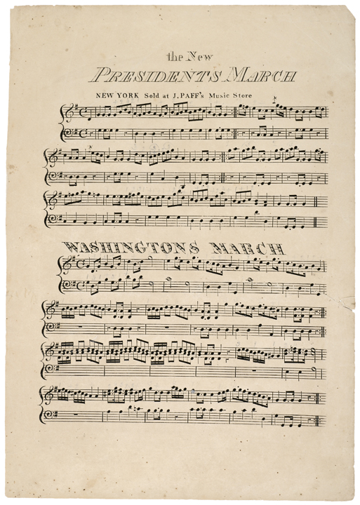 Early political sheet music c 1815 for Early house music