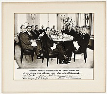 FRANKLIN D. ROOSEVELT Signed Photograph + His Eleven Turkey Cabinet Advisors