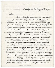 1847 Autograph Letter Signed JAMES K. POLK as President