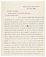 1909 THEODORE ROOSEVELT Typed Letter Signed From His Kenya Safari in Africa