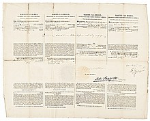 1839 MARTIN VAN BUREN Signed Four-Language Whaling Ship's Passport