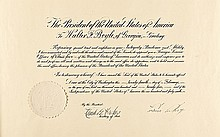 JOHN CALVIN COOLIDGE, 30th President  Signed Presidential Appointment
