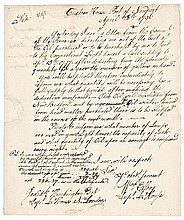1796 WILLIAM ELLERY Autograph Letter Signed - New London CT Lighthouse Whale Oil