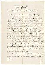 Rare 1871 ULYSSES S. GRANT Signed Full Presidential Pardon