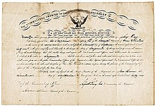 Union General ALFRED HOWE TERRY 1861 Civil War Document Signed