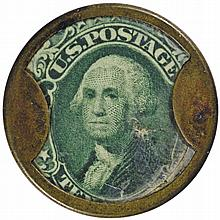 Encased Postage Stamp, EP-98a,10¢. AYER'S SARSAPARILLA. Medium AYER'S