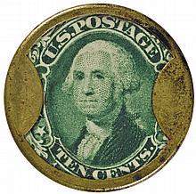 Encased Postage Stamp, EP-105, 10¢, BURNETT'S COCOAINE KALLISTON