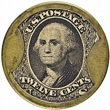 Encased Postage Stamp, EP-148, 12¢, J. GAULT, Plain Frame Type. About New.