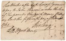 Continental Army Revolutionary War General WILLIAM ALEXANDER, LORD STIRLING ALS