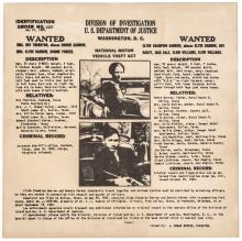 1934 (Bonnie Parker and Clyde Barrow) WANTED Poster