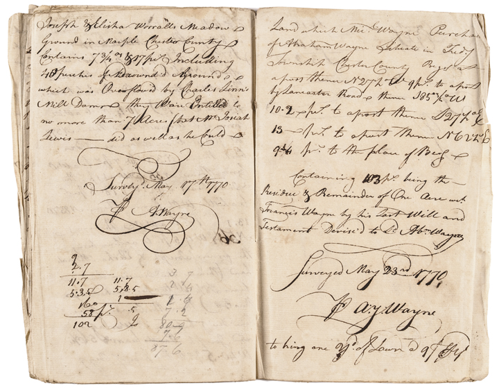 Three Land Survey Journals With 9 Signatures By General MAD