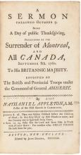 1760 Imprint: Mr. Appleton's Sermon Occasioned by The Surrender of Montreal,...!