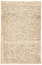 September 5 1774 Manuscript Document Defying the Tyranny of the Intolerable Acts