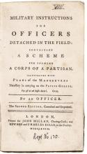 1779, 2nd Ed. Book: Military Instructions for Officers Detached in the Field.