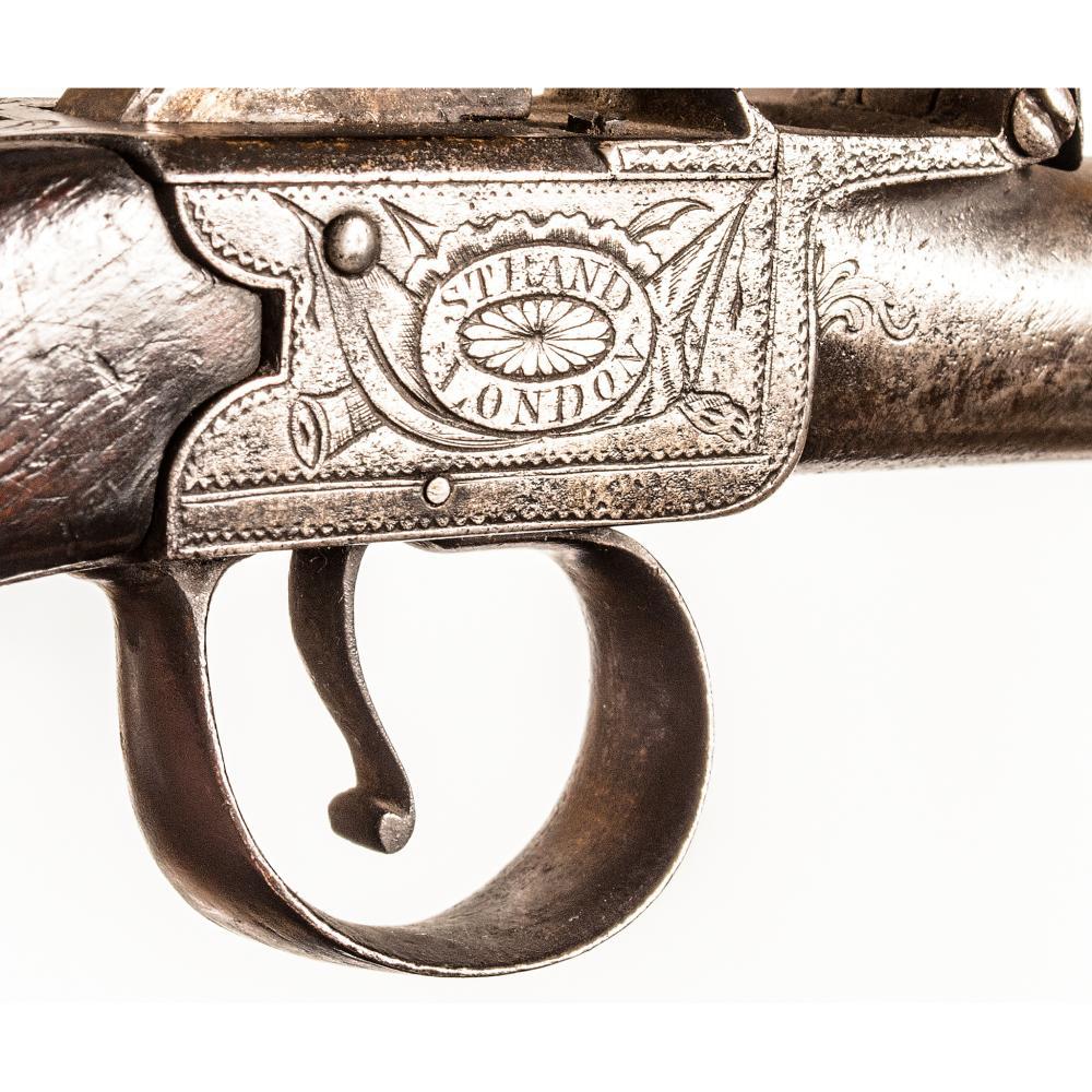 1765-80 Revolutionary War English Box-Lock Flint Pistol Pair