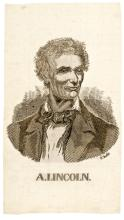 1860 Presidential Campaign Rare Beardless ABRAHAM LINCOLN Silk Ribbon
