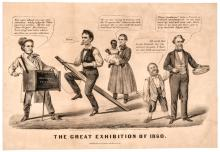 1860 Abraham Lincoln Presidential Campaign Political Cartoon by Currier + Ives