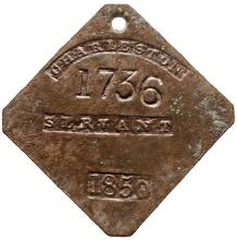 Genuine 1850-Dated, SERVANT Slave Hire Identification Tag, Charleston, SC