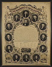 Presidents of the United States of America + DECLARATION OF INDEPENDENCE Litho