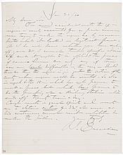 JOHN ERICSSON 1860 Autograph Letter Signed Built the Union Ironclad Ship Monitor