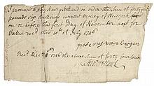 HENRY HOLLAND Jr., Manuscript Document Signed, Colonial Merchant and Privateer