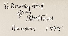 ROBERT FROST Autograph Signed