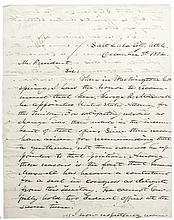 1872 Letter to President (ULYSSES S. GRANT) by Utah Chief Justice James B McKean