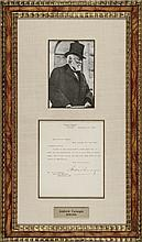 ANDREW CARNEGIE Typed Signed Letter on His Personal Stationary 1907 Framed