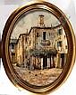 Guido Borelli, Villaggio - Oval oil onto canvas of, Guido Borelli, Click for value