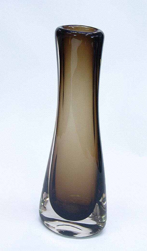Whitefriars Cinnamon Glass Swung Out Vase 40cm