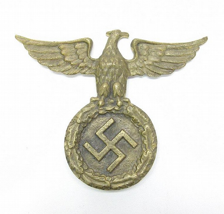 German military Nazi brass eagle and Swastika