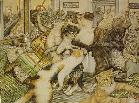 Zoe Stokes - Cats on the London Underground,