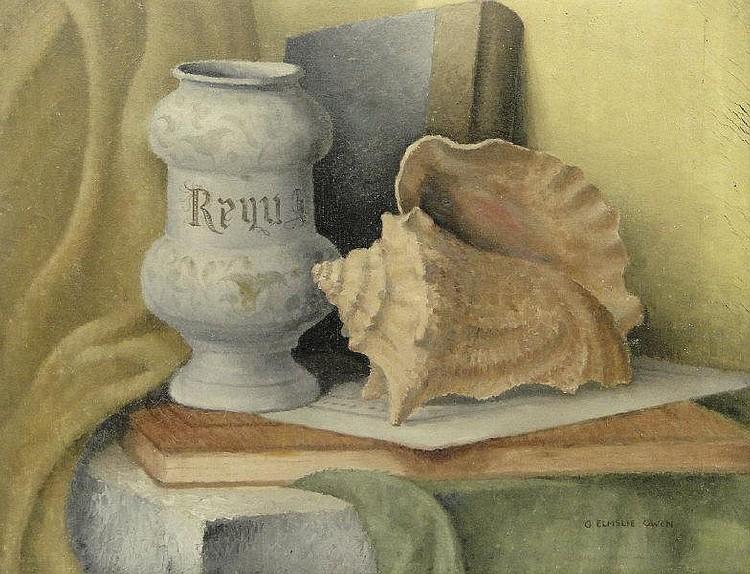 G. Elmslie Owen - Oil onto canvas still life,