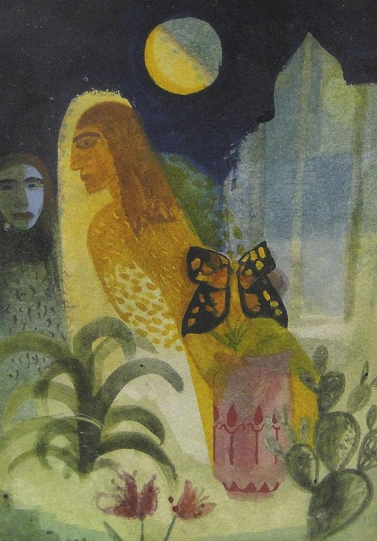 Samira Abbassy - Illumination - Watercolour study,