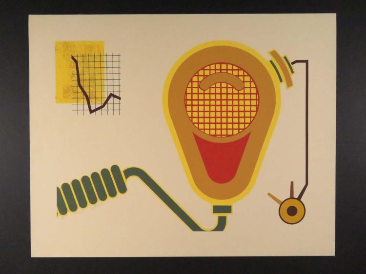 """Lee Adler """"Head II"""" 17/60 Lightbulb ? Graph"""
