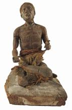 Ancient Egyptian ? Sculpture Seated Scribe