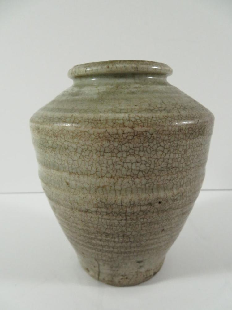 Chinese early celadon crackle vase for Asian antiques west palm beach
