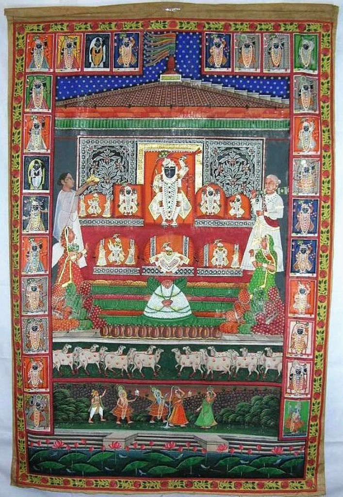 Hindu Calendar Art : Antique indian hindu calendar almanac