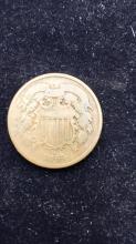 Lot 3: 1864 bronze two cent piece
