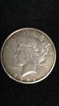 Lot 9: Peace dollar 1922