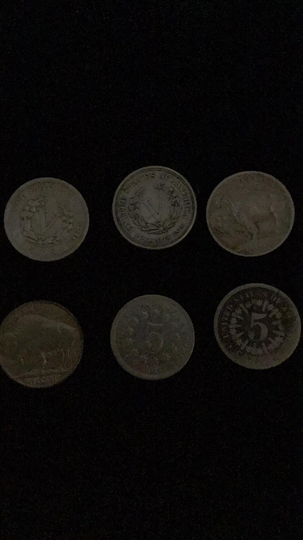 Lot 10: Six silver Nickels