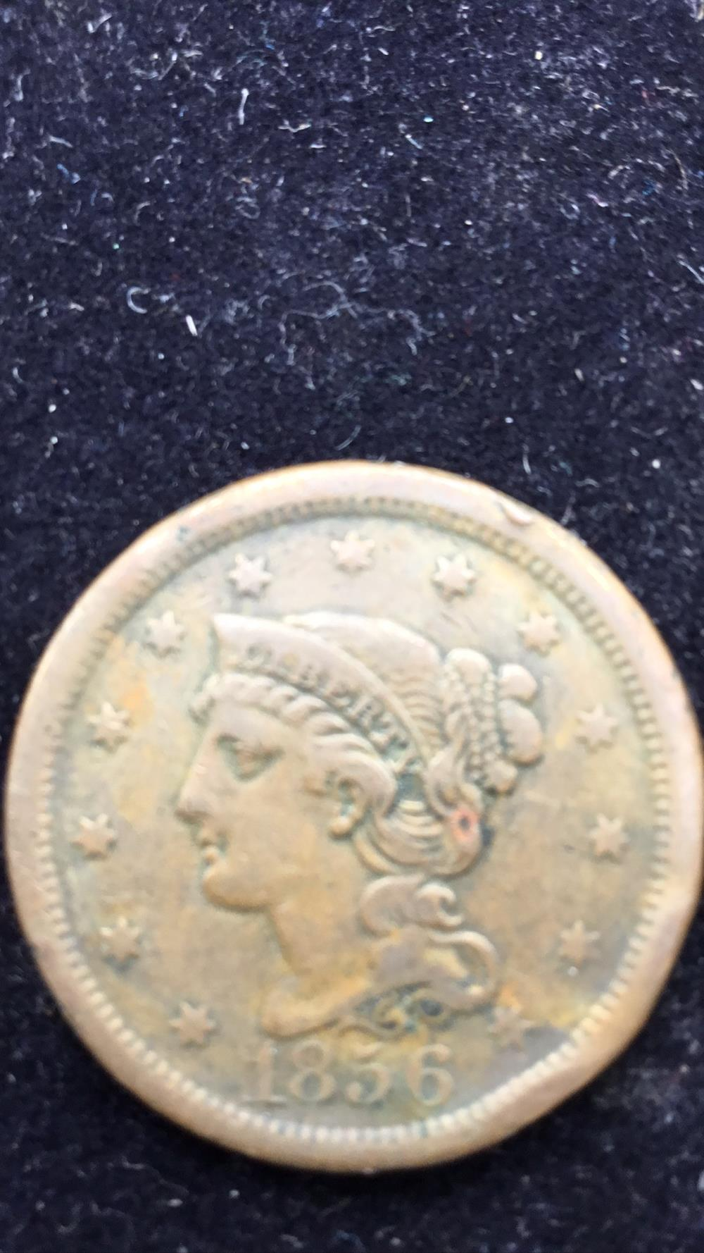 Large coronet one cent piece