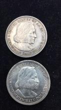 Lot 20: Two First commemorative coins USA 90% silver